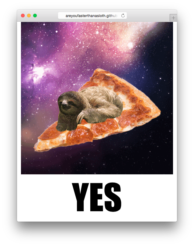 Are you faster than a sloth?